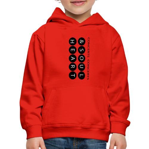 Heart & Soul concerts text design 2021 flip - Kids' Premium Hoodie