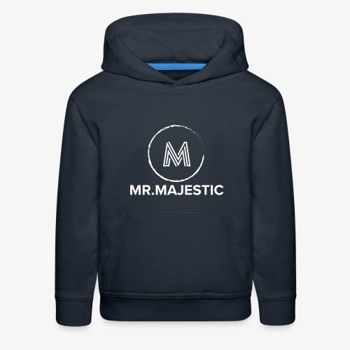 white logo transparent background - Kids' Premium Hoodie