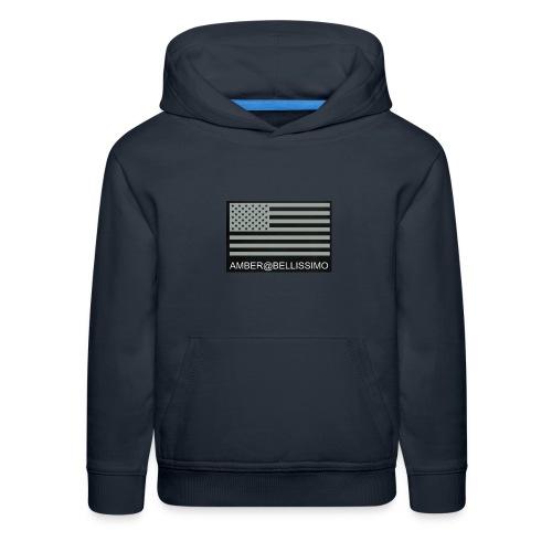 Grey American flag amber@bellissimobeautybar - Kids' Premium Hoodie