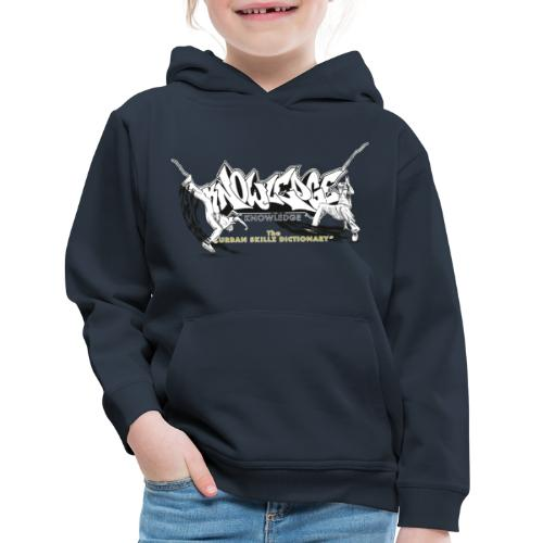 KNOWLEDGE - the urban skillz dictionary - promo sh - Kids' Premium Hoodie