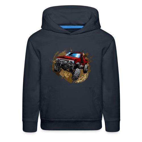 Muddy Red Truck - Kids' Premium Hoodie