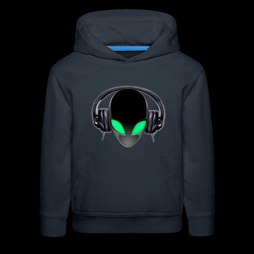 Alien Music Lover DJ (Simplified Fit All Design) - Kids' Premium Hoodie