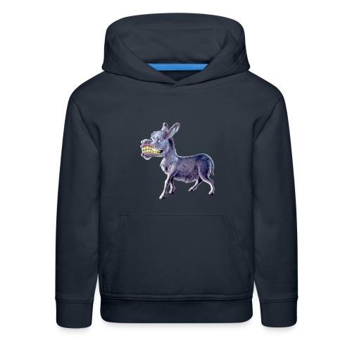 Funny Keep Smiling Donkey - Kids' Premium Hoodie