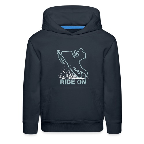 Snowmobile Ride On Sled - Kids' Premium Hoodie