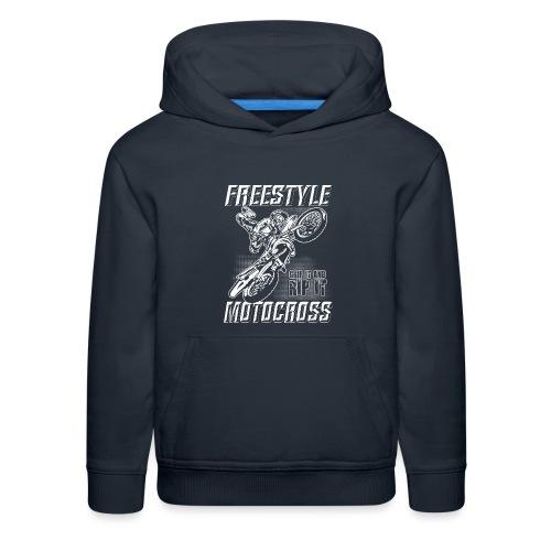 Freestyle Motocross Stunt - Kids' Premium Hoodie