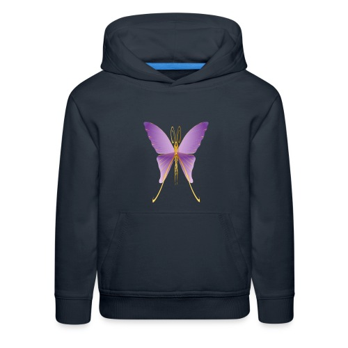 One Big Purple Butterfly - Kids' Premium Hoodie