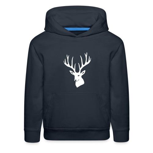 stag night deer buck antler hart cervine elk - Kids' Premium Hoodie