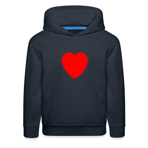 Red heart Care - Kids' Premium Hoodie