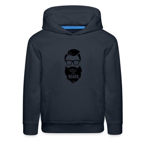 Respect the beard 08 - Kids' Premium Hoodie