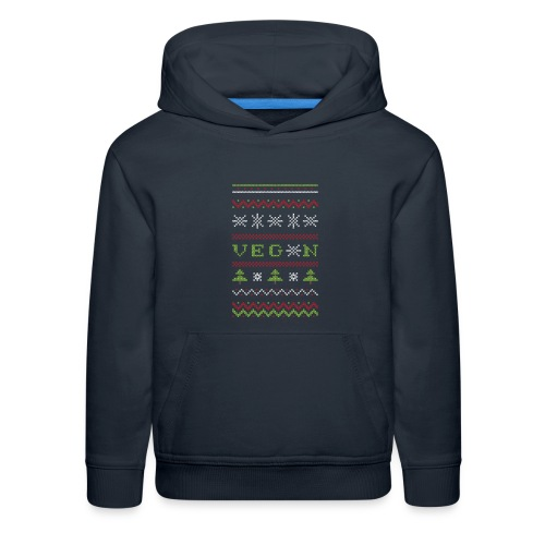 Veg*n Ugly Sweater Women's Wideneck Sweatshirt - Kids' Premium Hoodie