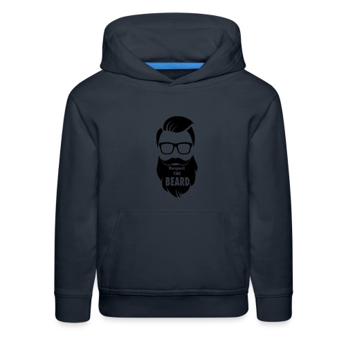 Respect the beard 08 - Kids' Premium Hoodie