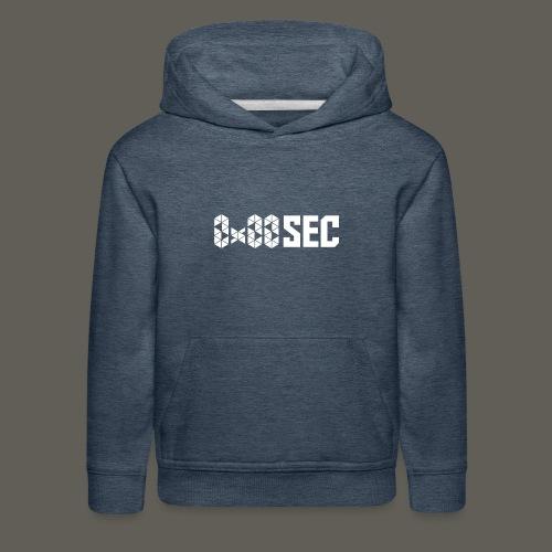 0x00sec Rectangle White Logo - Kids' Premium Hoodie