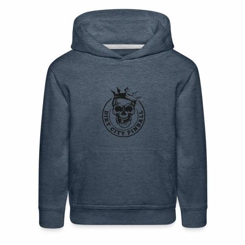 Dirt City Pinball Black/White Logo - Kids' Premium Hoodie