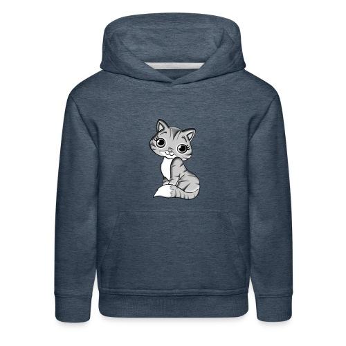 grey cat - Kids' Premium Hoodie