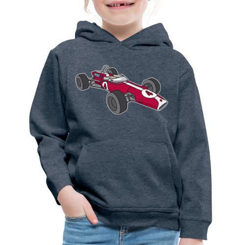 Red racing car, racecar, sportscar - Kids' Premium Hoodie