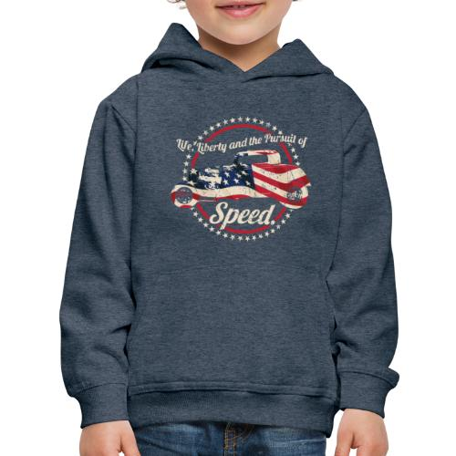 Life, Liberty and the Pursuit of Speed USA Hot Rod - Kids' Premium Hoodie