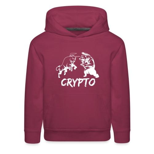 CryptoBattle White - Kids' Premium Hoodie