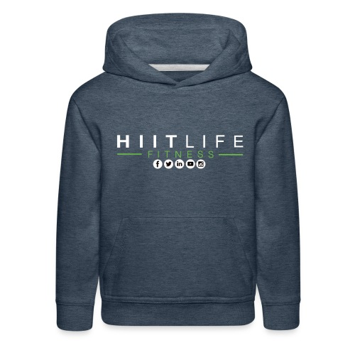 hlfsocialwht - Kids' Premium Hoodie