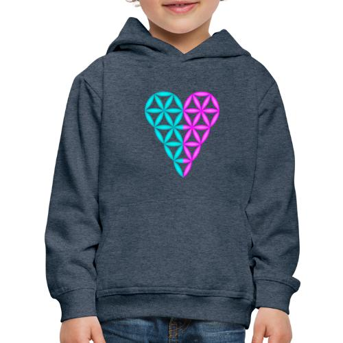 Dual Heart - Heart of Life - 3D. - Kids' Premium Hoodie