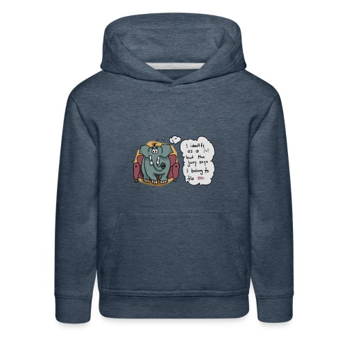 Elephant sitting on a couch - Kids' Premium Hoodie
