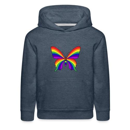 Rainbow Butterfly - Kids' Premium Hoodie