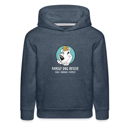 fdr logo (white tagline) - Kids' Premium Hoodie