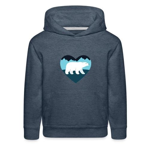 Polar Bear Love - Kids' Premium Hoodie