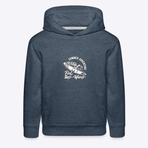 Summer Adventure Surf - Kids' Premium Hoodie