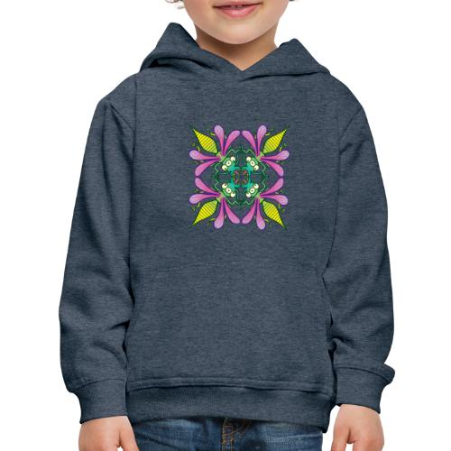 Glowing insects meeting in the middle of the night - Kids' Premium Hoodie