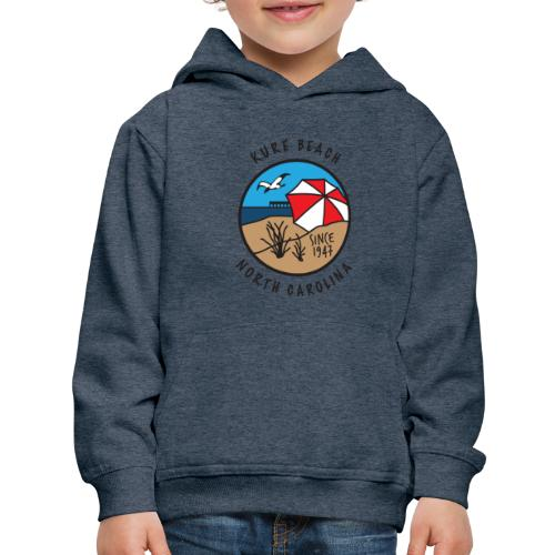 Kure Beach Day-Black Lettering-Front Only - Kids' Premium Hoodie