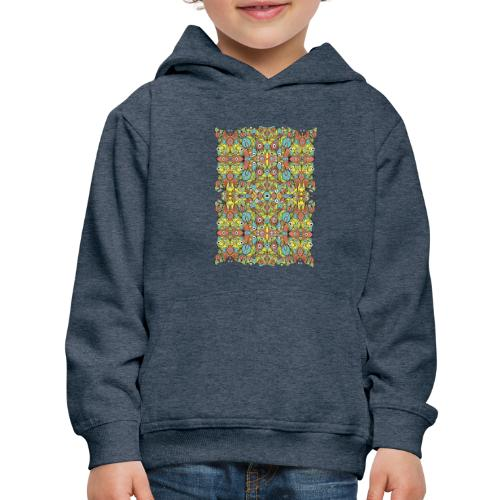Odd creatures multiplying in a symmetrical pattern - Kids' Premium Hoodie