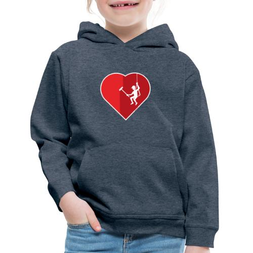 Heart cleaning by a professional window cleaner - Kids' Premium Hoodie