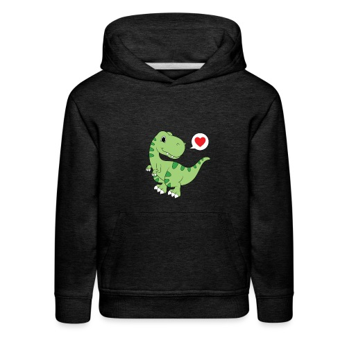 Dinosaur Love - Kids' Premium Hoodie