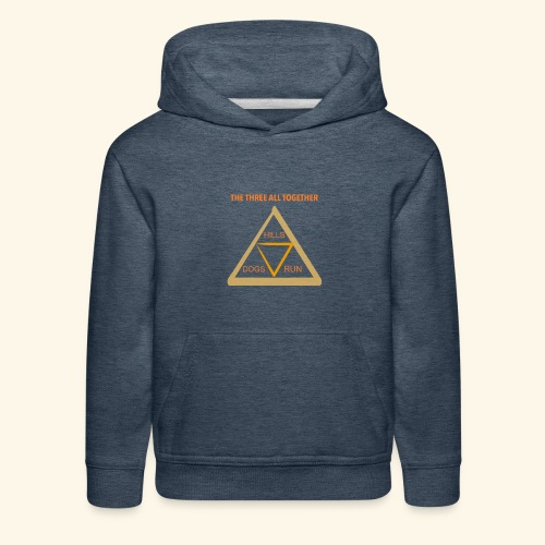 Run4Dogs Triangle - Kids' Premium Hoodie
