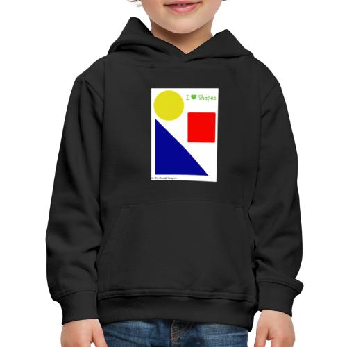 Hi I'm Ronald Seegers Collection-I Love Shapes - Kids' Premium Hoodie