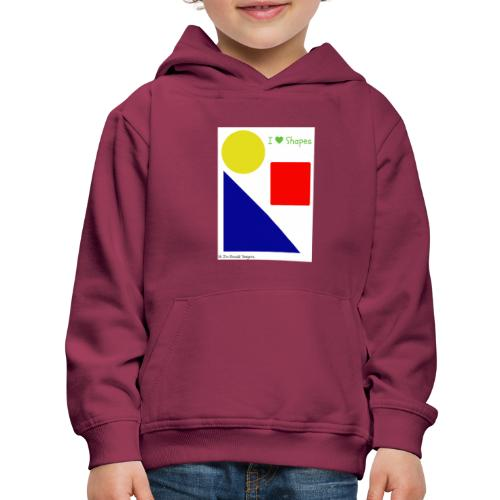 Hi I'm Ronald Seegers Collection-I Love Shapes - Kids' Premium Hoodie