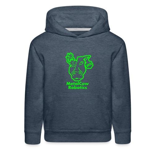 MetalCowLogo GreenOutline - Kids' Premium Hoodie