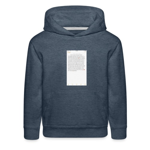 Text from a Football Commit - Kids' Premium Hoodie