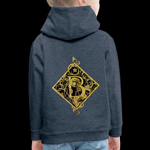NAME STARTS WITH B MONOGRAM FANCY BEE! - Kids' Premium Hoodie