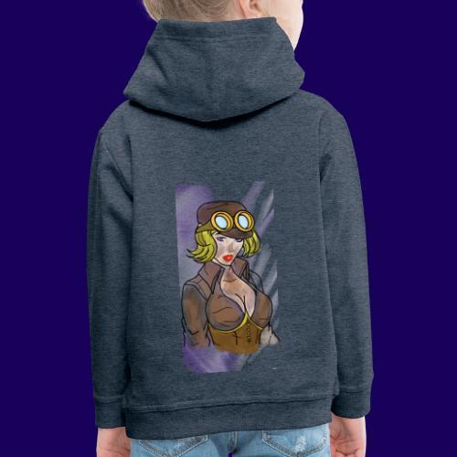 Steampunk girl - Kids' Premium Hoodie