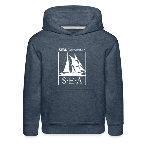 SEA_logo_WHITE_eps - Kids' Premium Hoodie