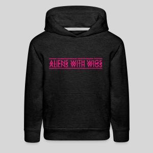 AliensWithWigs-Logo-Rose - Kids' Premium Hoodie