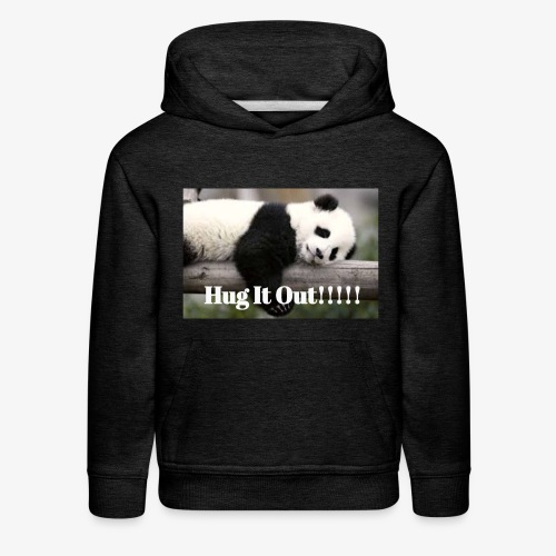 Hug It out Panda Merch - Kids' Premium Hoodie