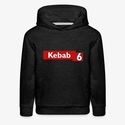 Kebab red logo - Kids' Premium Hoodie