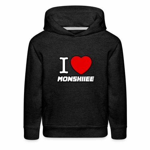 I LOVE MONSHIIEE - Kids' Premium Hoodie