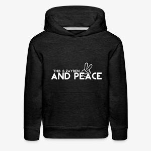 And Peace - Kids' Premium Hoodie