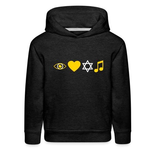 I Love Jewish Music - Kids' Premium Hoodie