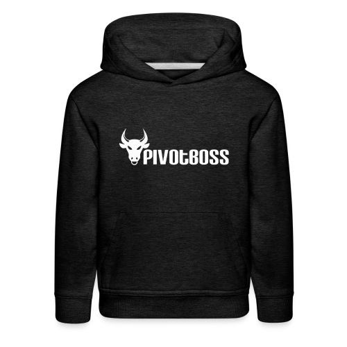 PivotBoss White Logo - Kids' Premium Hoodie