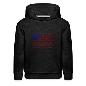 no trump no kkk USA flag - Kids' Premium Hoodie