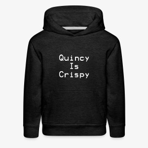 QuincyIsCrispy Text Logo (White) - Kids' Premium Hoodie
